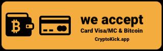 Aceptamos pagos en BTC / CryptoKick.app